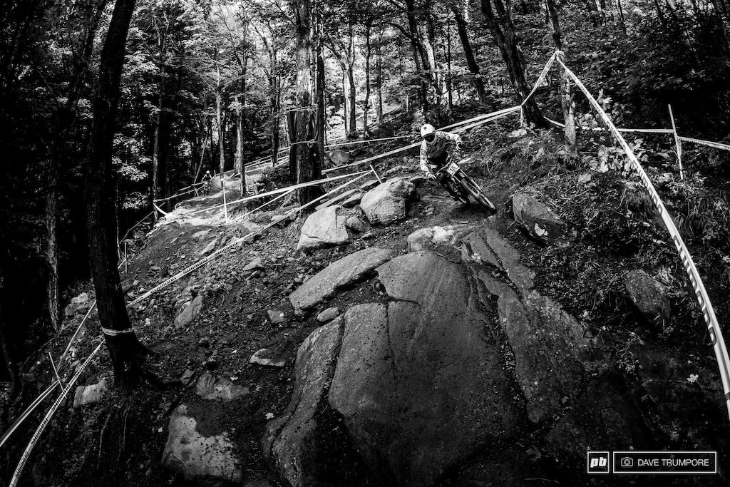 Steep rough and unrelenting would best describe the track that greated riders for qualifiying.