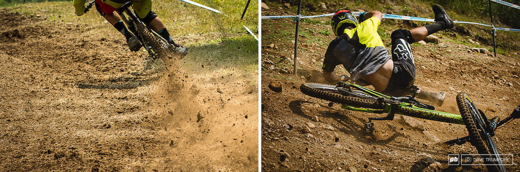 After a few days of on and off rain it was all sunshine today making the track ultra fast and loose in spots.