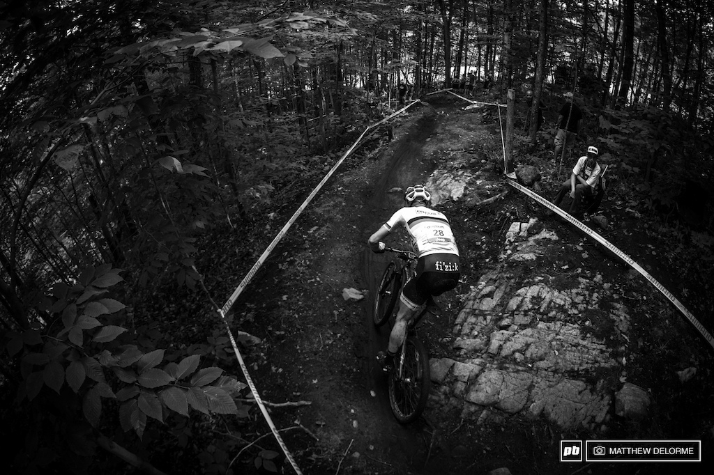 Technical single track and sloppy woods sections were sure to keep riders on their toes.