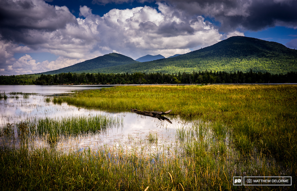 On the edge of the the Bigelow Preserve in northern Maine, heading south through the Carrabassett valley.