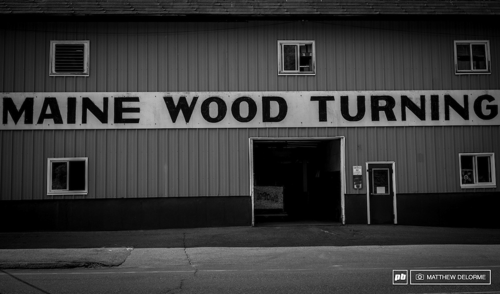 Wood turning is big industry in the north Maine woods.