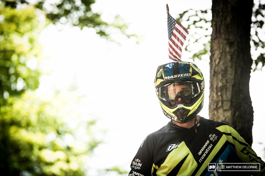 Eddie Masters is a legend. Practice all day with an American flag on his helmet.