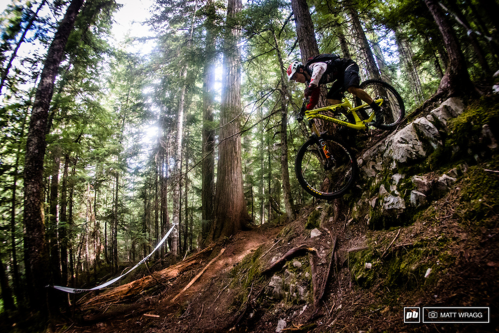One to watch this weekend is local rider Jesse Melamed. While he admits that he doesn t know many of the trails they are using for this race he knows the terrain here better than almost anyone so expect him to be flying tomorrow.