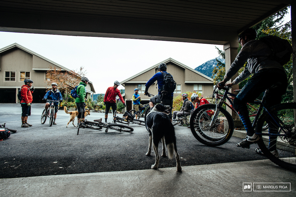 The Chromag friday ride...a Whistler tradition since forever.