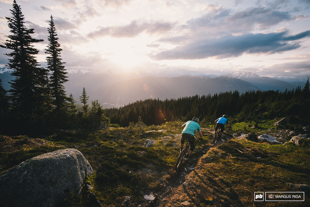 Wade Simmons and Andreas Hestler dropping in on Khyber Pass...Whistler s first epic descent.