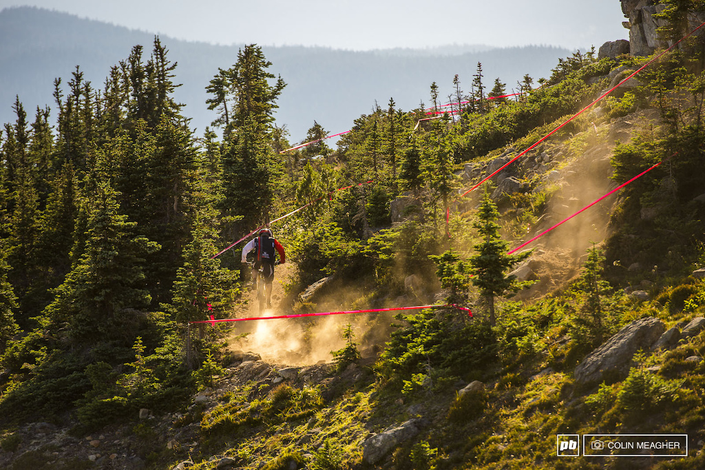 Rocky Mountain blowing dust on the trails....