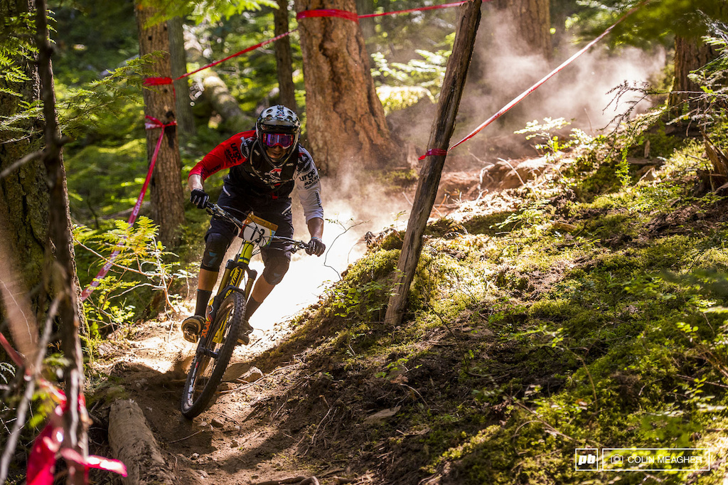 Lucky number 13 Florian Nicolai ripping the loamy goodness of stage one aka Microclimate.