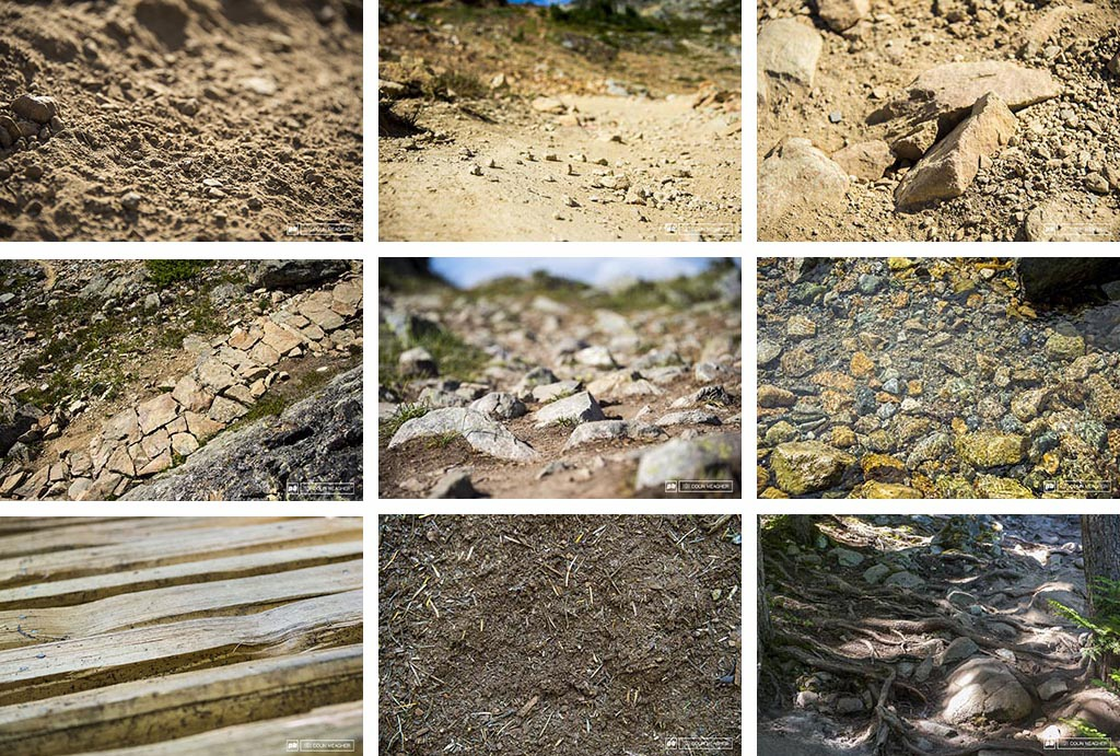 This race course was all about textures... from blown out loose dirt to loose over hard to pointy rocks that want to kill your wheel to well laid rock armor to wheel wrecking mine fields to water crossings to wood slat bridges to luxurious loam to combinations of root rocks and loose blown out dirt... this track had it all.