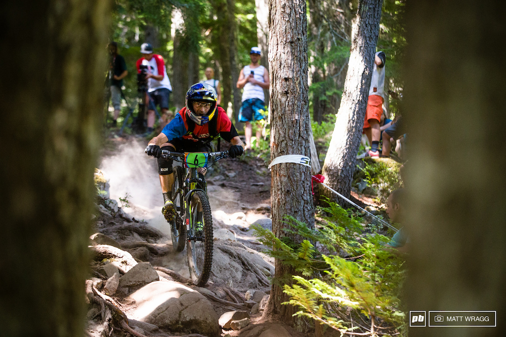 After a run of podium finishes Rene Wildhaber was slightly further back today finishing 11th.