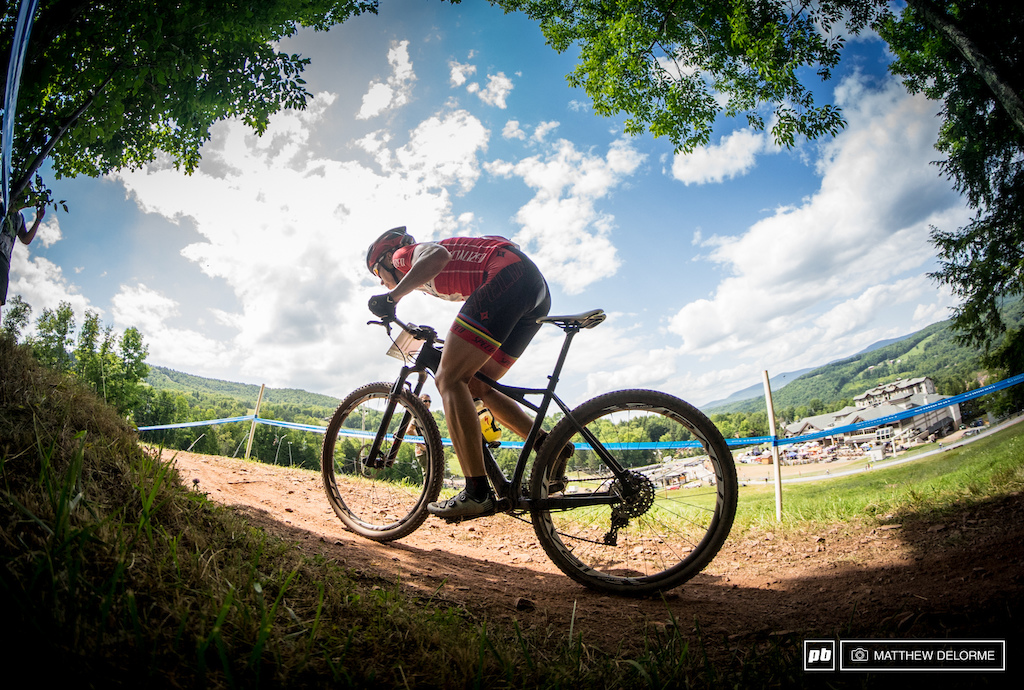 Specialized s Annika Langvad held out in the heat and conquered the climbs to finish third.