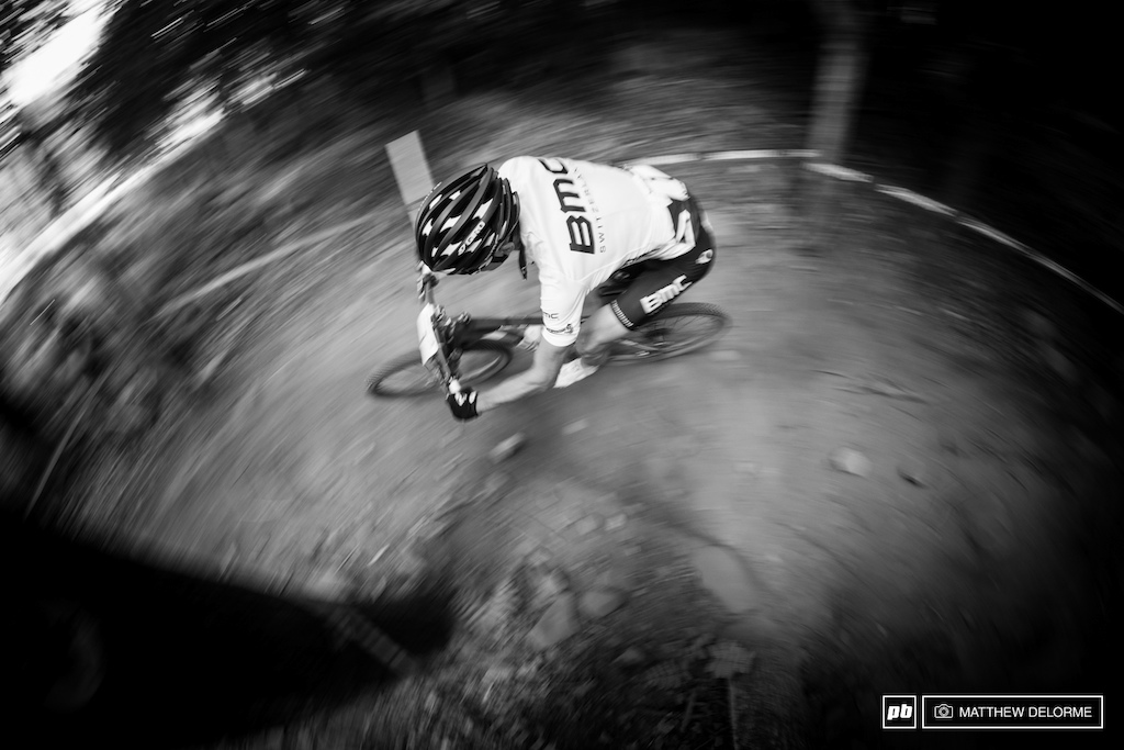 Absalon and Schurter shelled each other throughout the race trading blows until the last lap when Schurter pulled ahead.