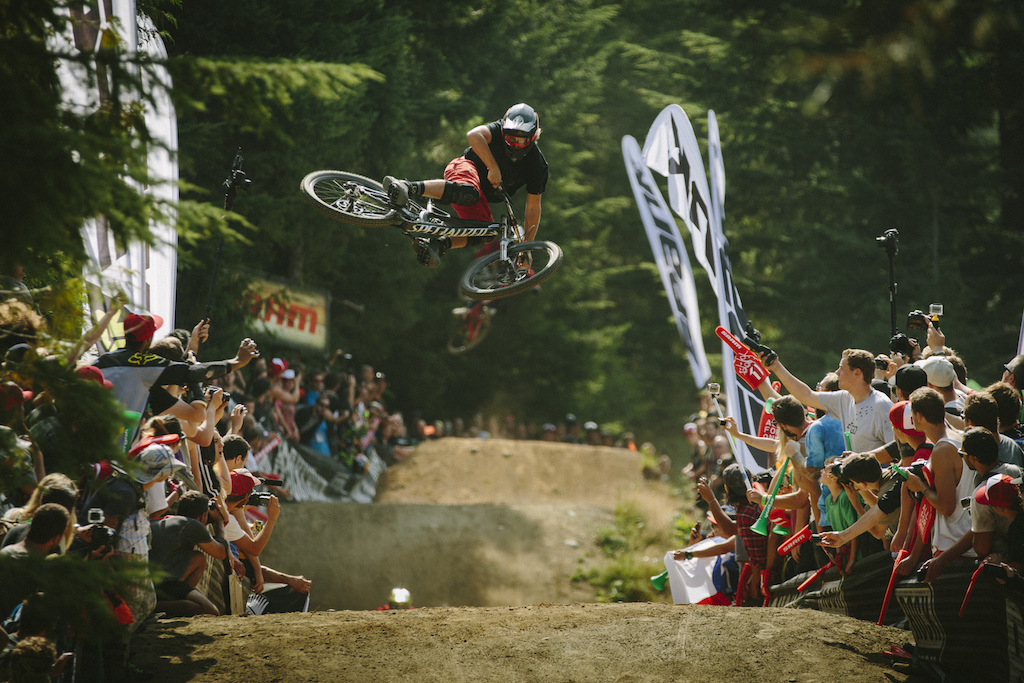 Matty Miles at the Official Whip off Worlds Crankworx 2014 Whistler British Columbia Canada