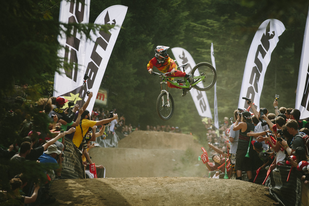 at the Official Whip off Worlds Crankworx 2014 Whistler British Columbia Canada