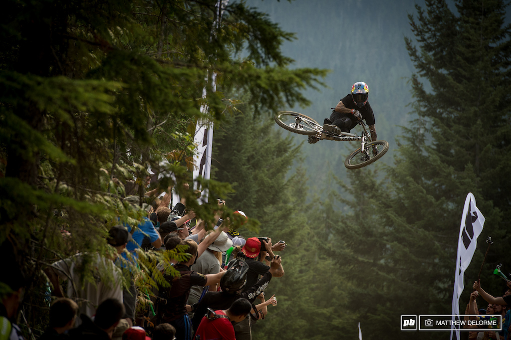 Andreu Lacondeguy was flying high today and took third place in Whip Off Worlds.