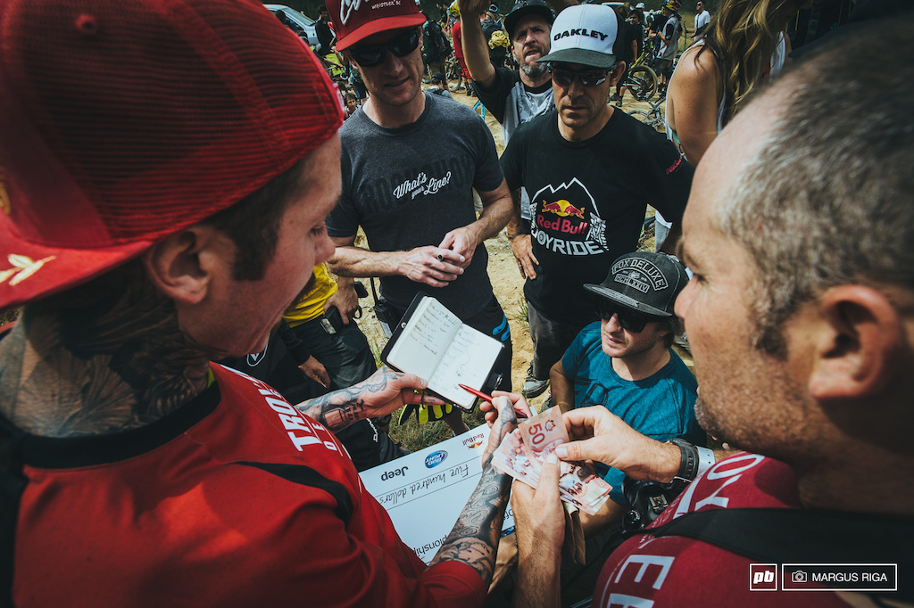 Duncan Riffle Sven Martin Tyler McCaul and Whistler crew decide on who whiped the best.