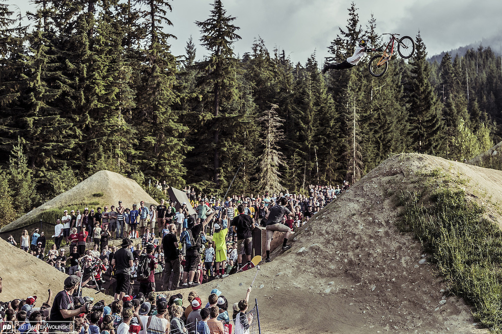 Godziek put his name in the history books as the first Polish rider who rode in the Red Bull Joyride and it looks like he enjoyed it. Huge double grab from the Suszec s local.