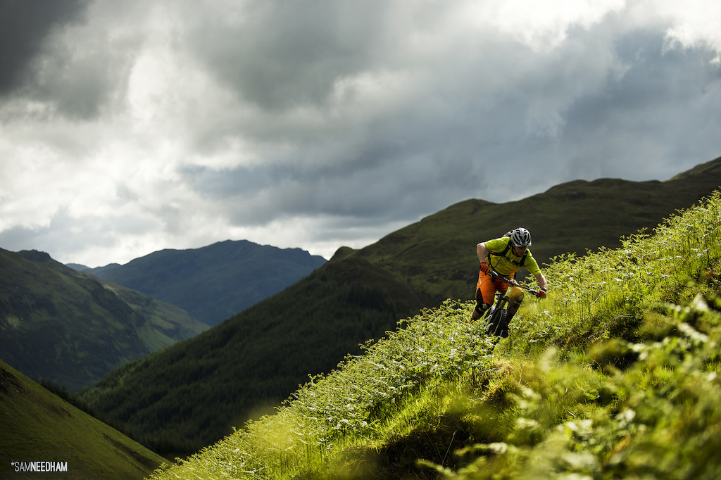 Scalpel precision. Chainsaw ability. Toby Pantling tears through prime cuts of Scottish singletrack.