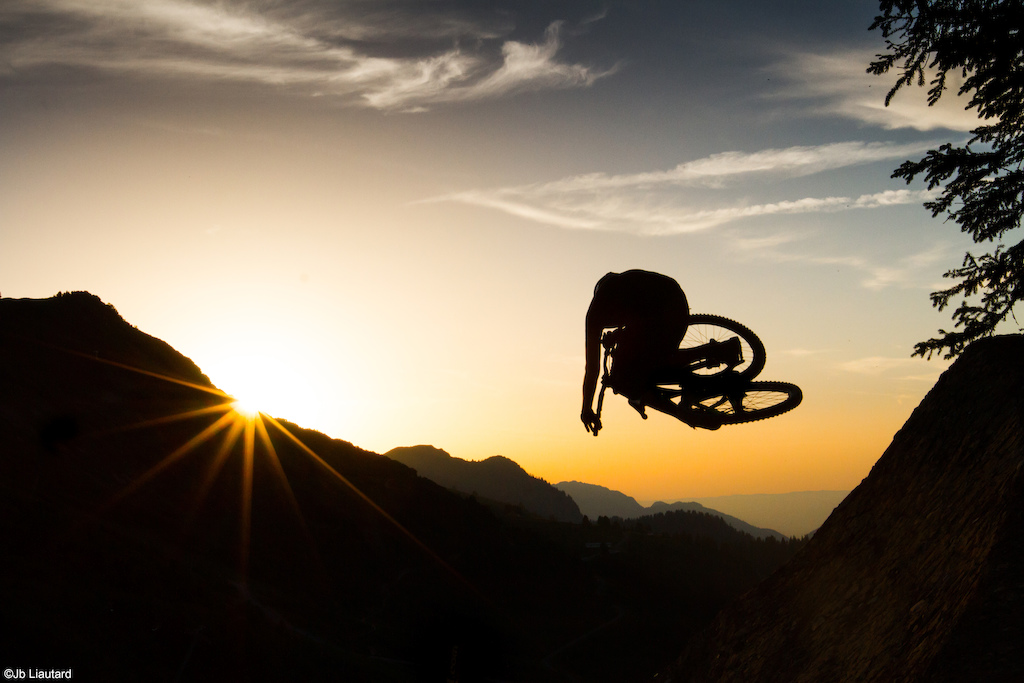Last sunset on the Face during the bike fest' in Chatel.