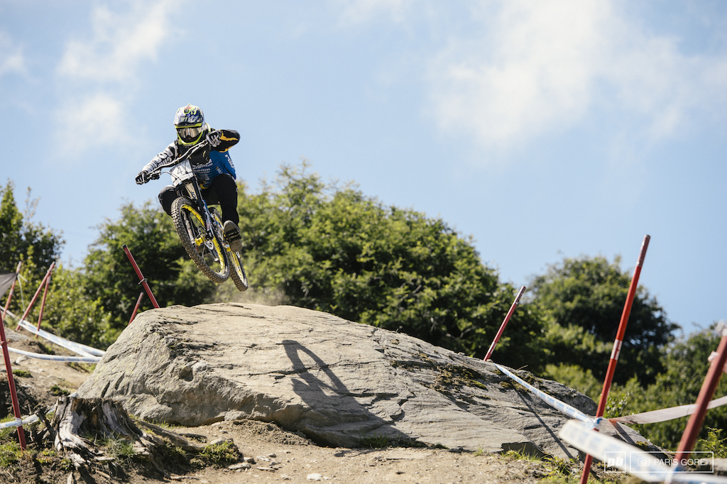 Sam Hill rounding out the third fastest down today and absolutely looking pinned on this track.