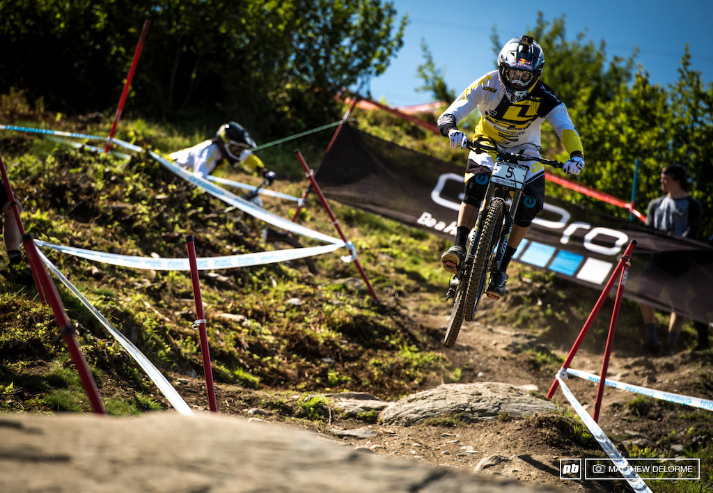 Gee Atherton was second in timed training today. No doubt he wants on the podium at the last race of the season.