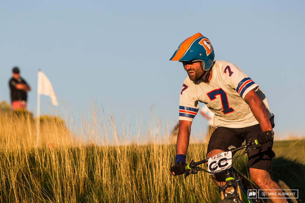 Chad Cheeney loving the hue of the golden hour on the Tetherow Golf Course.