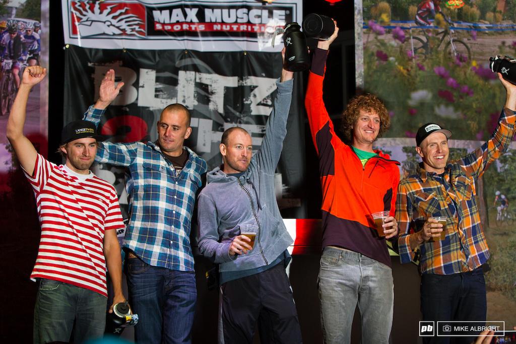 Top 5 Men Carl Decker Barry Wicks Kris Sneddon Ryan Trebon Cody Kaiser