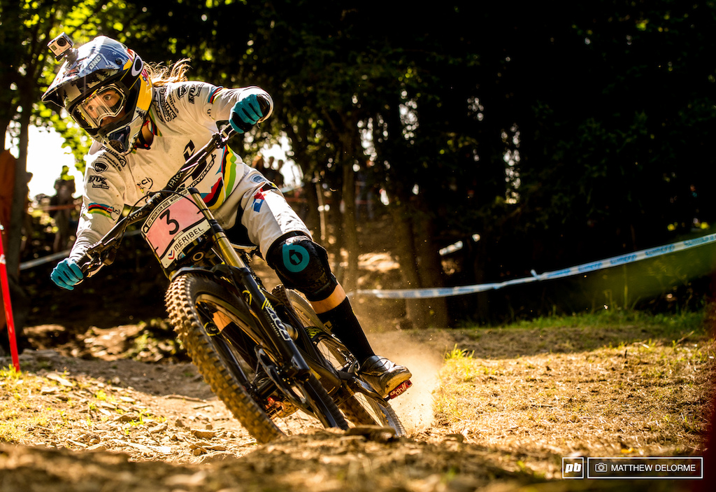 Rachel Atherton took the win on the final race of the world cup season.
