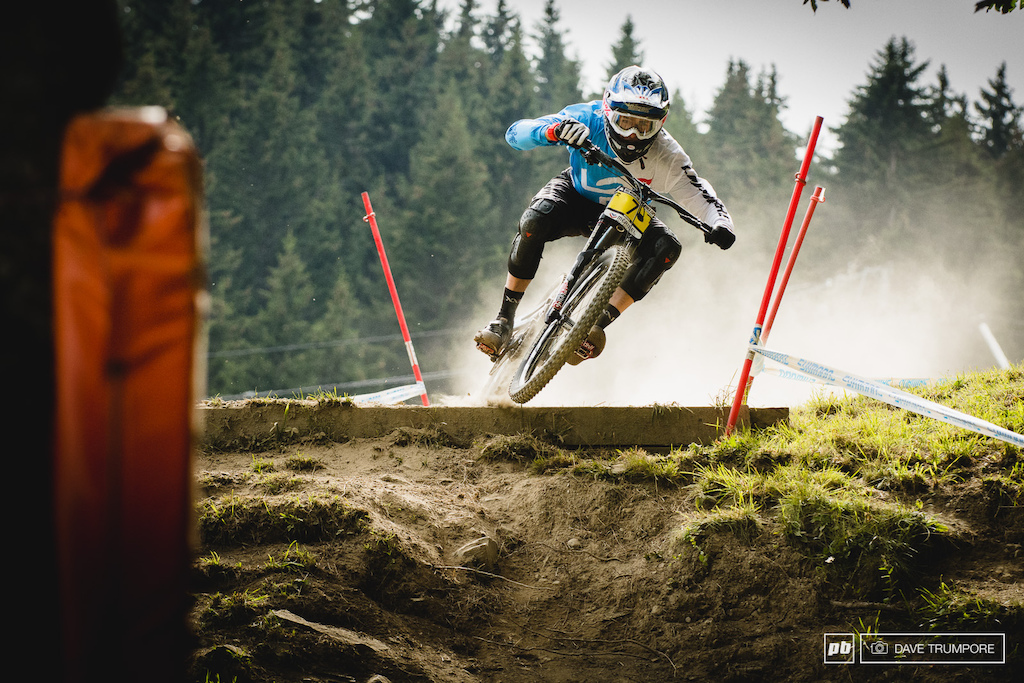 Sam Blenkinsop was pinned through the lower slopes but couldn t pull back enough time to get onto the podium.