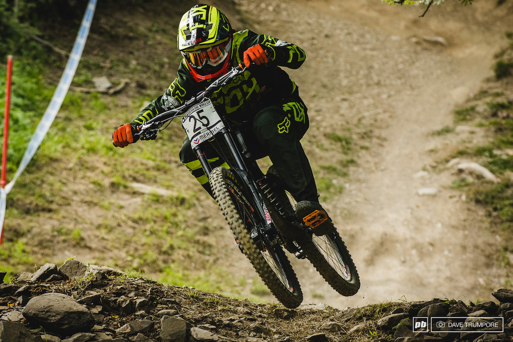 Conor Fearon look excellent in practice smashing corners and taking risky lines.