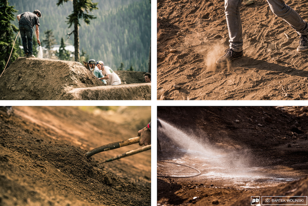 Despite the fact that The Claw is an avid builder everyone want to have the track dialed. It's a great way to warm up and learn the course so you don't need to ask those guys twice.