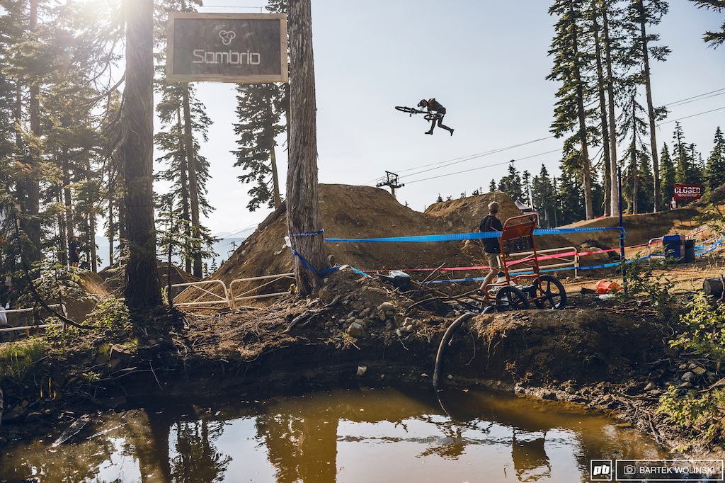 Downside whips looks like regular ones under the feet of Brandon Semenuk.