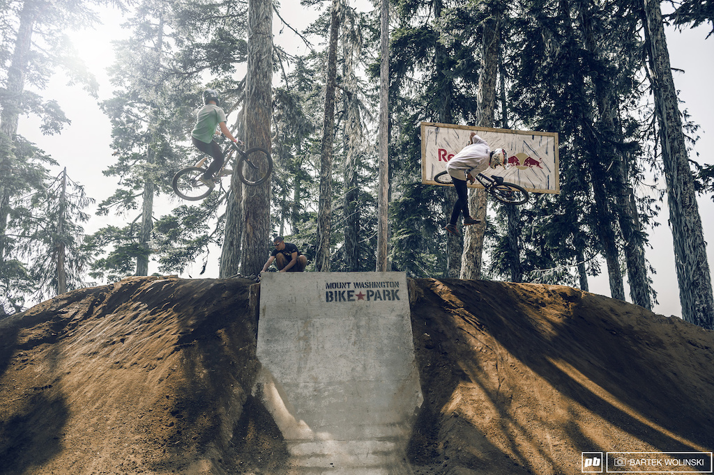 540 spin or a downside whip? Rogatkin and Lemoine having fun togather.