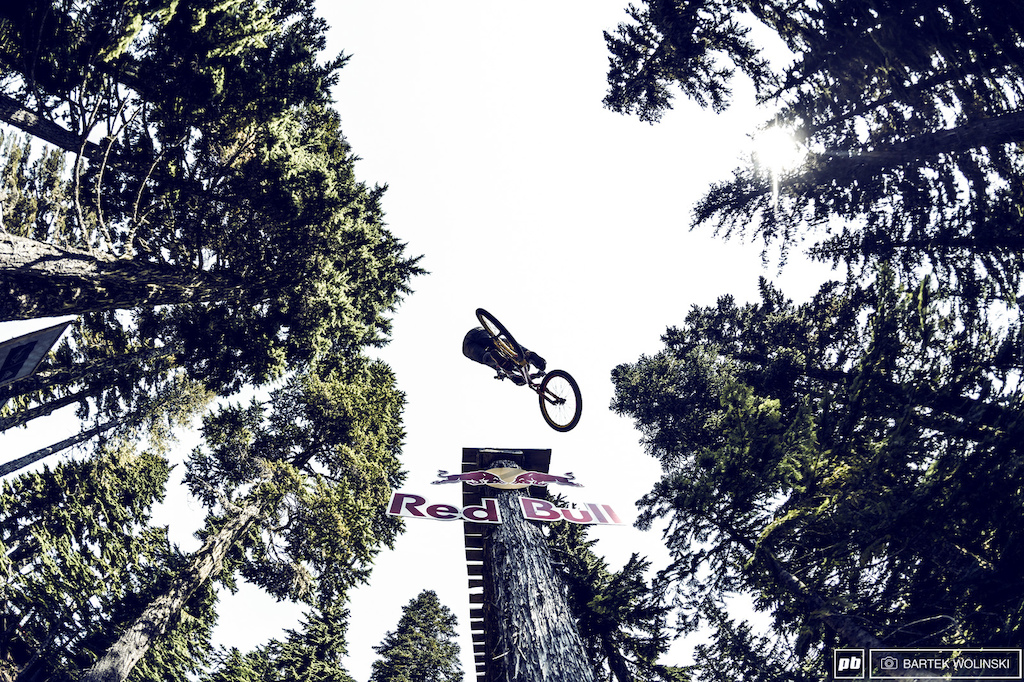 Typical 360 x-up off the drop from the Czech Republic's own Tomas Zejda