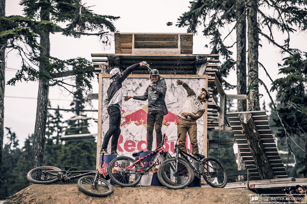 The trio that loves to push the limits meets again at the three steps of glory at Vancouver Island. Congratulations to all of the riders who competed and gave their best