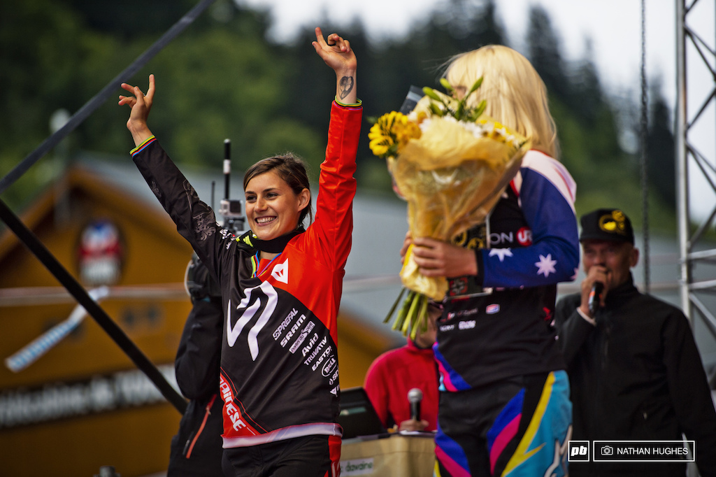Emmeline couldn t outdo Rachel but she was never going to disappoint the French fans. Second place for an amzing performance out in the home mountains.