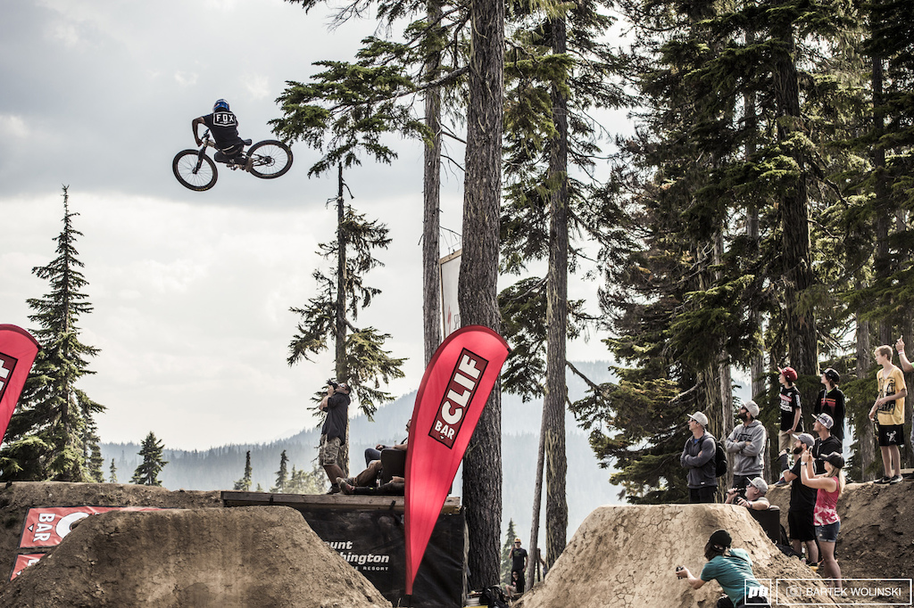 Anthony Messere getting sideways a bit higher than the rest of the riders.