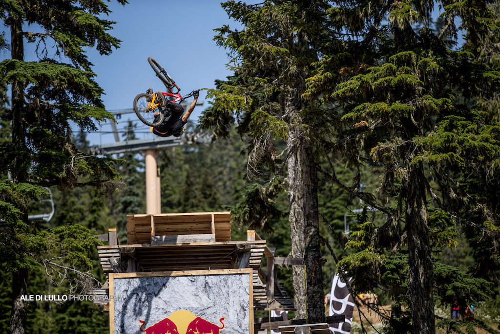 Szymon Godziek had the most stylish flip over the red bull drop