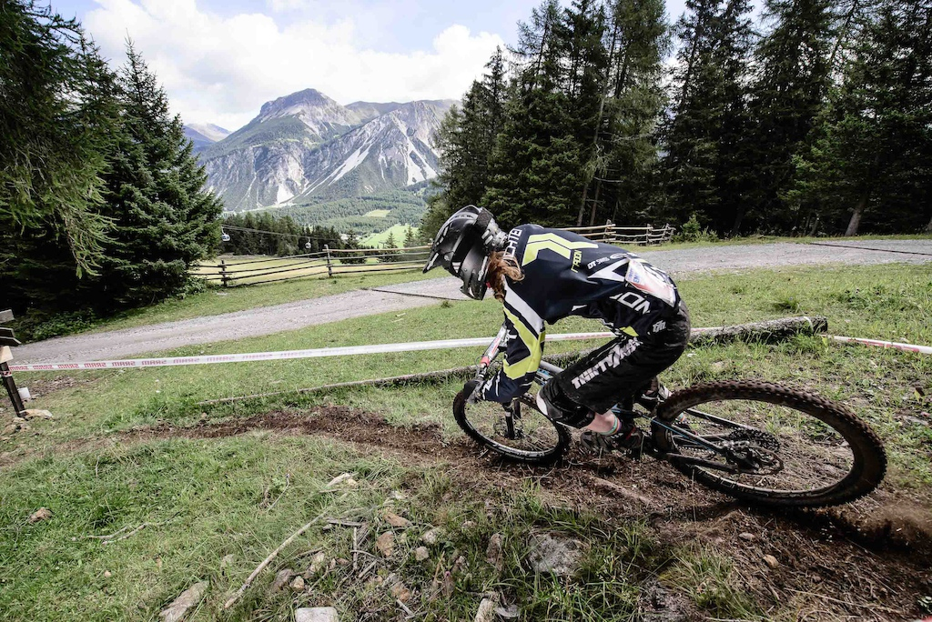 RICHTER, Raphaela races the European Enduro Series Round 4 in Nauders, Austria, on August 24, 2014.Free image for editorial usage only: Photo by Felix Schüller.