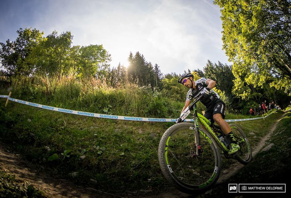 Manuel Fumic rode stong today finishing third.