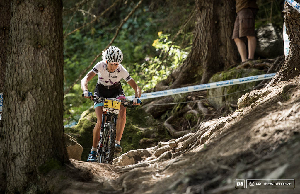 Jolanda Neff was out front from early on in lap one and stayed there.
