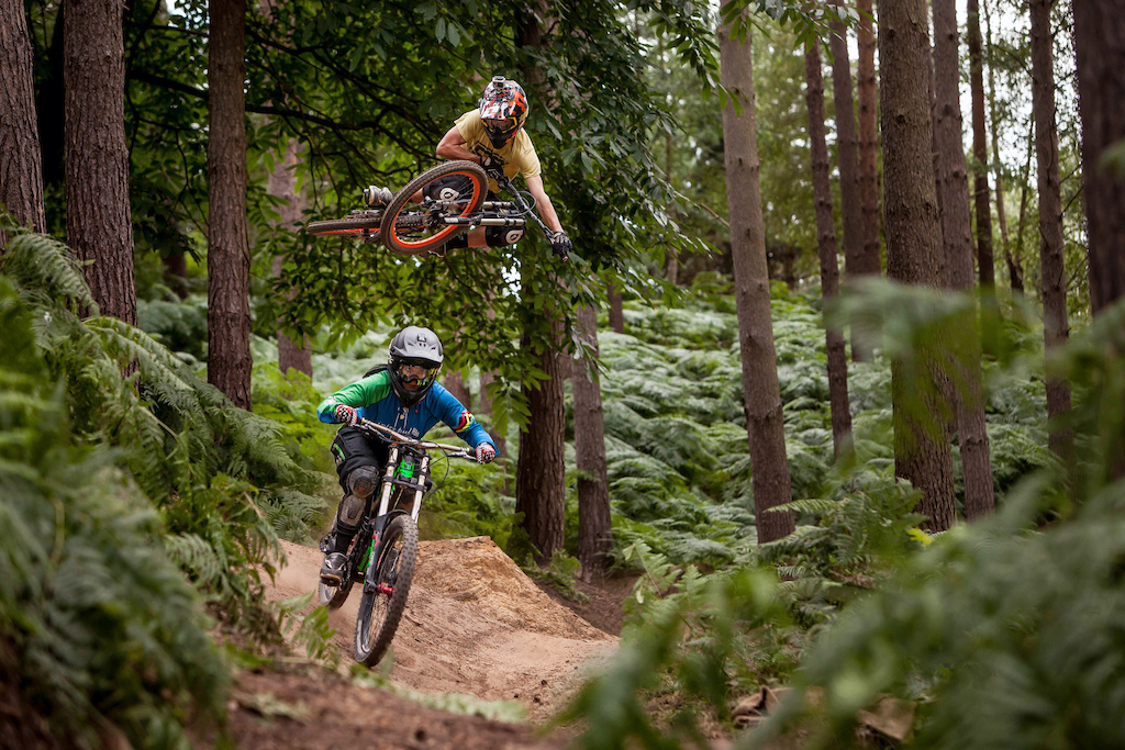 Sending it at Woburn Bike Park with the Missus, Suzanne Lacey - photo thanks to Gepard79!