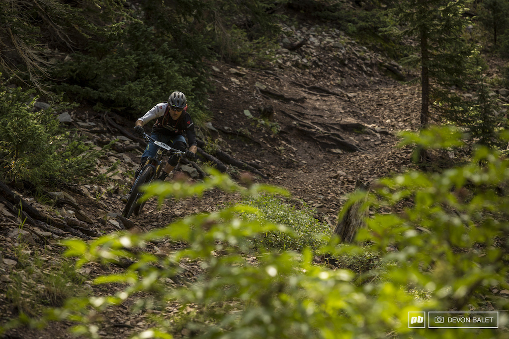 JHK has been a top contender in the Big Mountain Enduro series the entire season. He fell out of his typical standings here in Moab but continues to put down fast times.