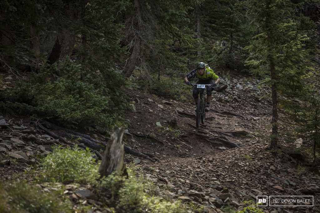 Young gun Marco Osborne continues to make an impact on the Big Mountain Enduro series. He placed well in both stages taking home fourth place for the weekend.