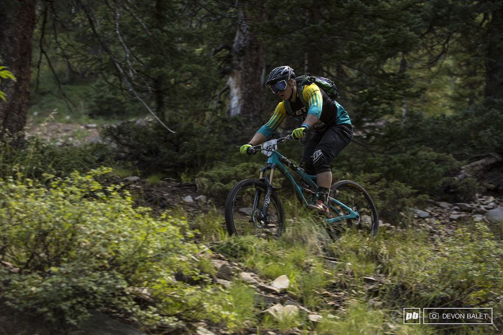 Yeti shredder Richie Rude has had a very impressive season so far with several EWS stage wins and EWS podiums. Off the line on stage one it appeared he had already won the stage with the pure power he lays down.