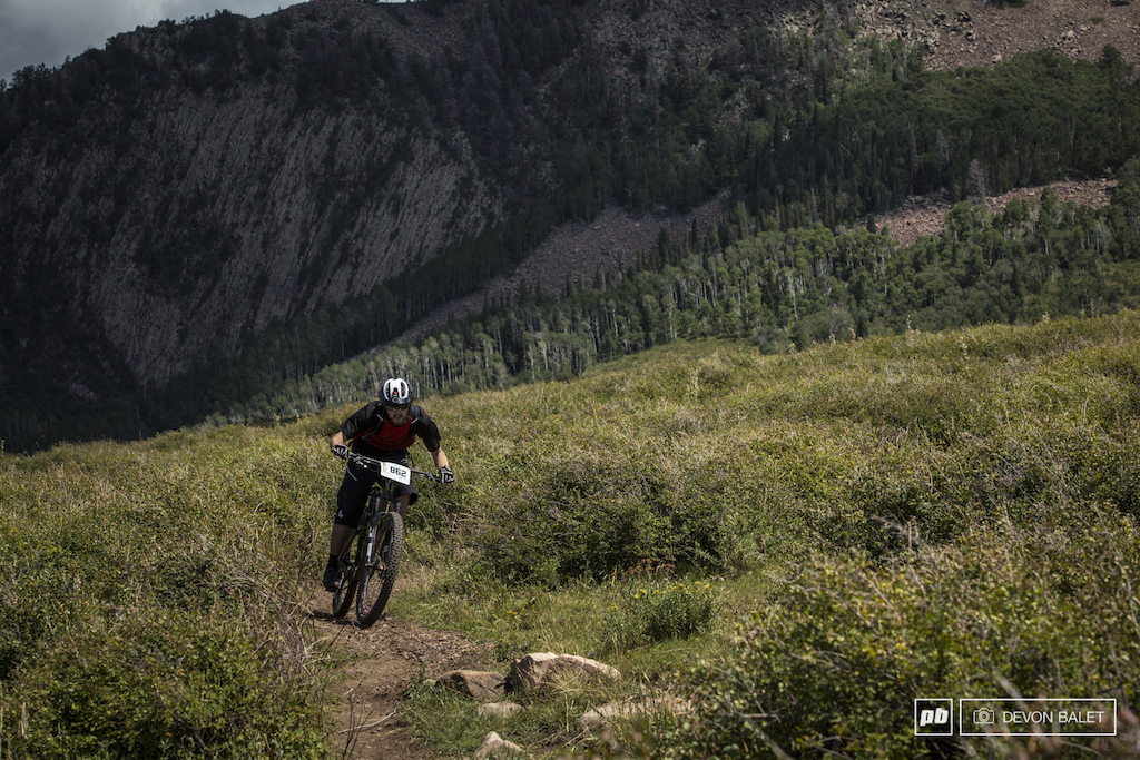 Andrew Morrison keeps his speed up through another flat turn on Hazard Pass.