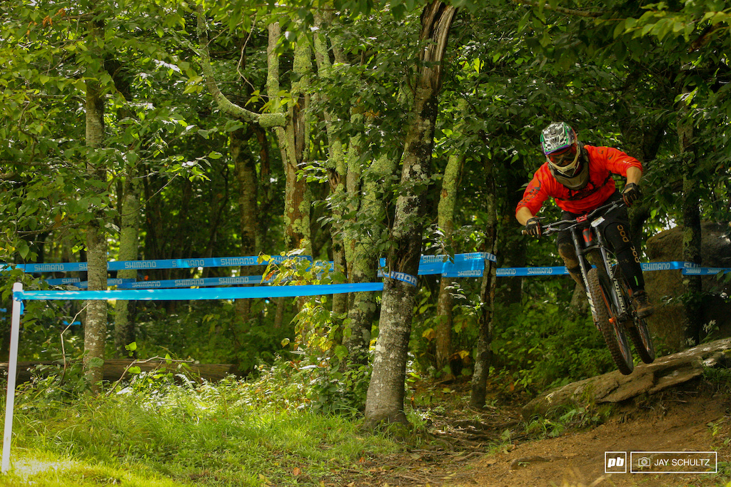 Keepin It Upright - After a bit of hiatus due to life getting in the way it was good to see Jay Guidry back on track. A former teammate of mine in a past life with Billy Goat Bikes he seems to always have what I would say a bit of bad luck. I ve seen him go through some really nasty spills and thrills. I believe he had a bit of bobble on his race run as he was a minute off the pace in Men 19 29 Cat 1.