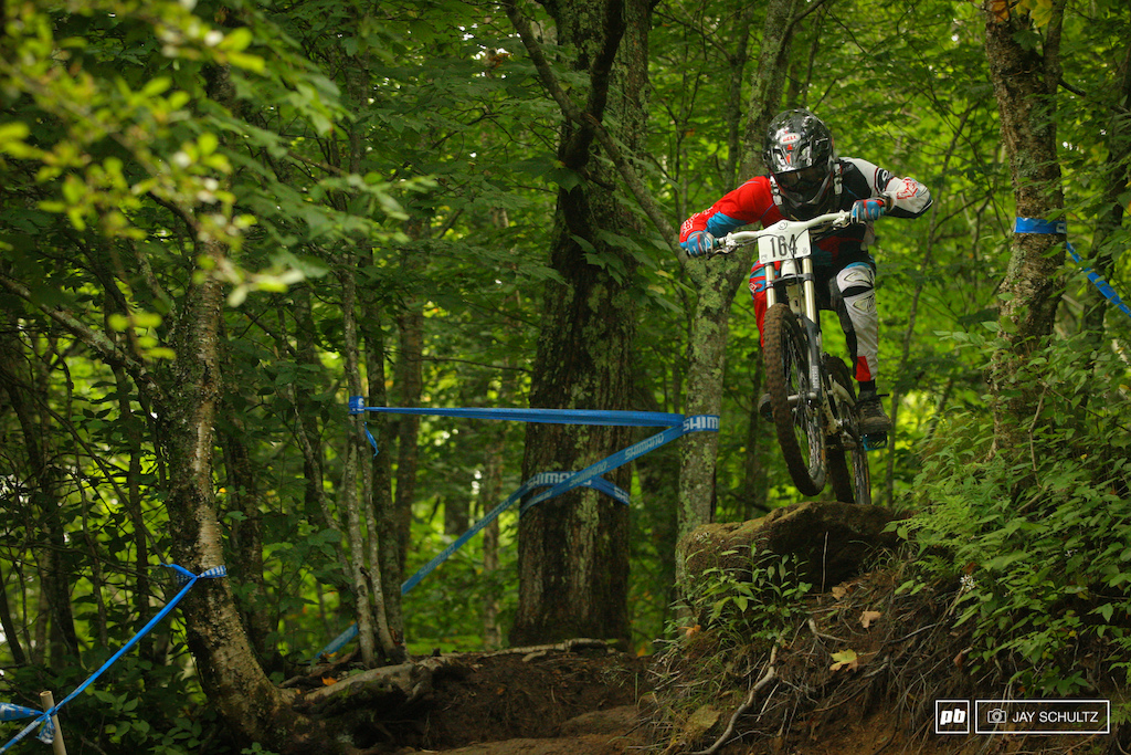 The Brothers Addair - Kevin and Harley go with SE Regional DH races like peas and carrots. Kevin pictured had to settle for fourth two spots behind his brother Harley in second in the Men 30 39 Cat 1 category.