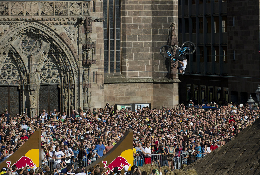 Anthony Messere performs at the Red Bull District Ride in Nuremberg, Germany on September 10th, 2011 // Andreas Schaad/Red Bull Content Pool // P-20120229-00094 // Usage for editorial use only // Please go to www.redbullcontentpool.com for further information. //