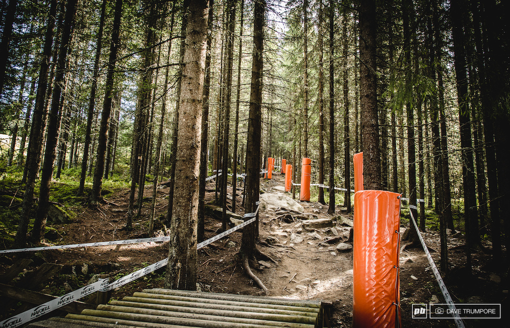 In it s third year and after some major flooding this spring the Hafjell track is looking well worn in for World Champs.