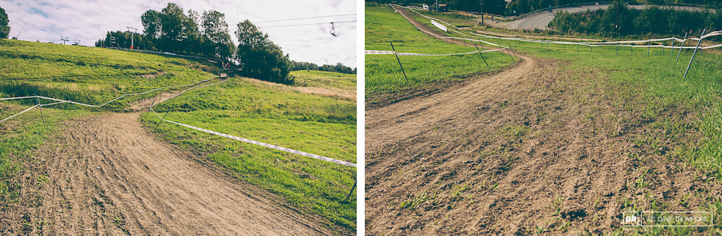 Sun baked ruts and loose dirt define the fastest part of the track this year.